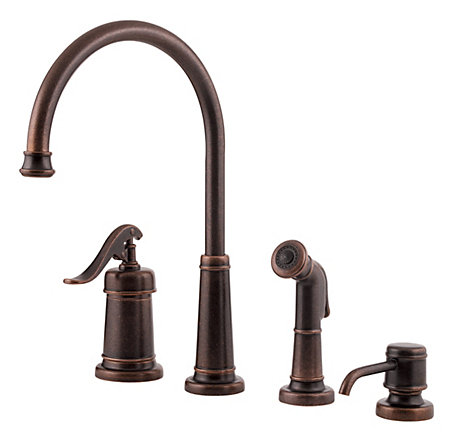 Rustic Bronze Ashfield 1-Handle Kitchen Faucet - GT26-4YPU - 1