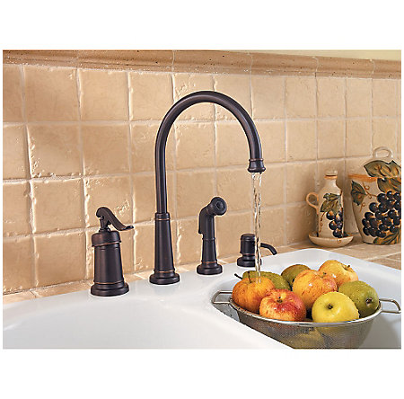 Tuscan Bronze Ashfield 1-Handle Kitchen Faucet - GT26-4YPY - 4
