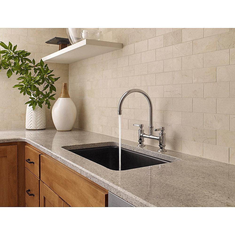 Pfister Kitchen Faucets Polished Chrome Port Haven Bridge Kitchen Faucet Gt31 Tdc
