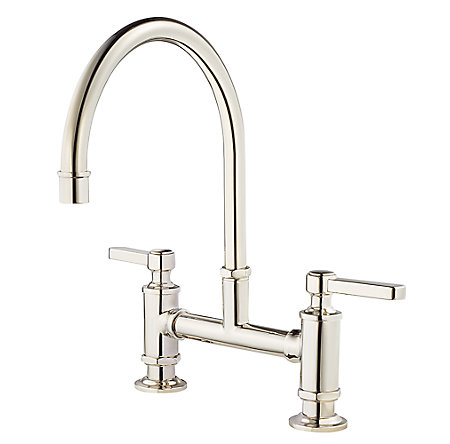 Polished Nickel Port Haven Bridge Kitchen Faucet GT31