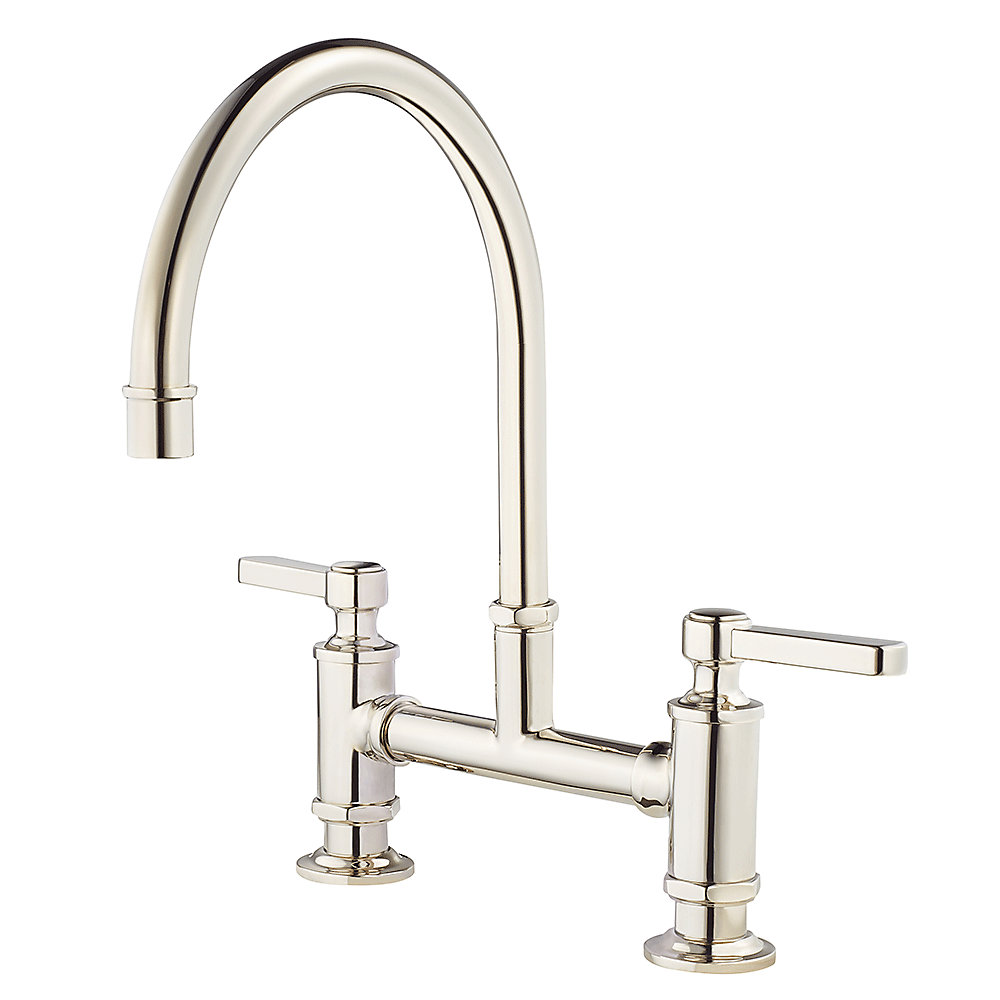 polished nickel port haven bridge kitchen faucet - gt31-tdd