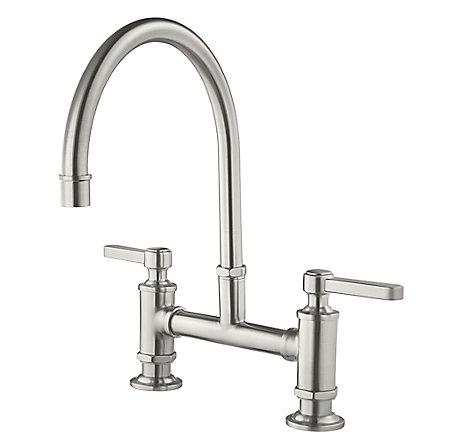 Stainless Steel Port Haven Bridge Kitchen Faucet - GT31-TDS - 1