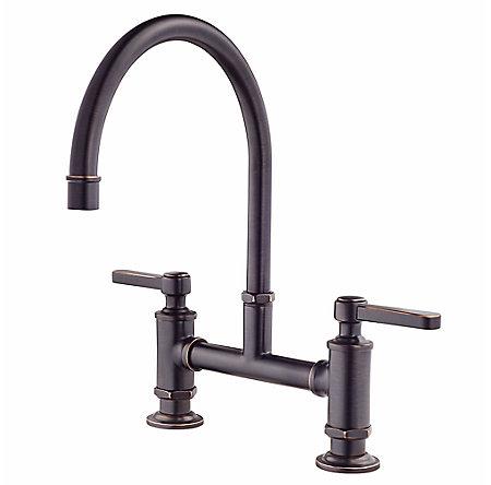 Tuscan Bronze Port Haven Bridge Kitchen Faucet - GT31-TDY - 1