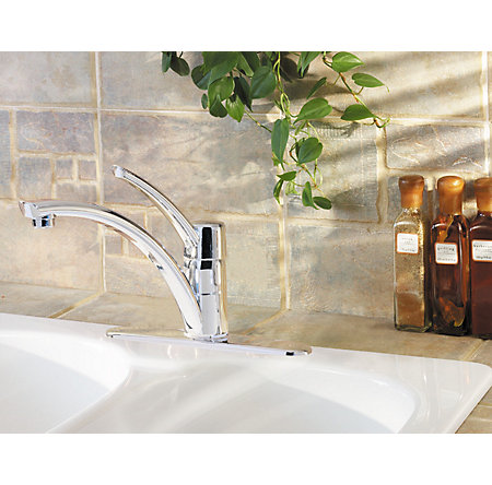 Polished Chrome Parisa 1-Handle Kitchen Faucet - GT34-1NCC - 2