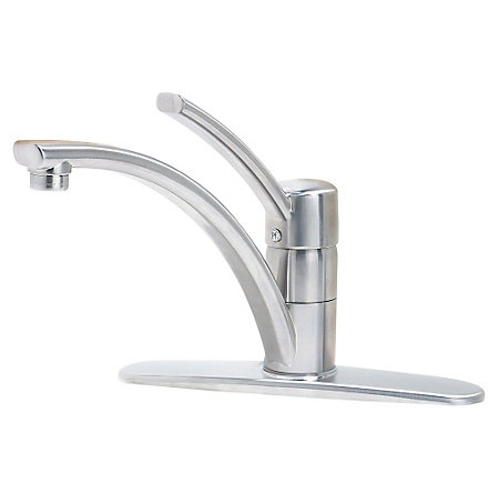 stainless steel parisa 1-handle kitchen faucet - gt34-1nss - 1