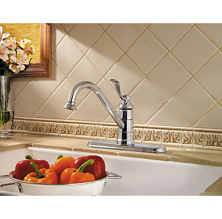 Polished Chrome Portland 1-Handle Kitchen Faucet - GT34-1PC0 - 3