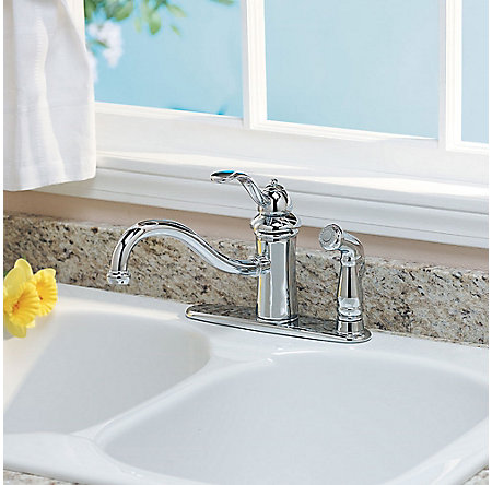 Polished Chrome Marielle 1-Handle Kitchen Faucet - GT34-3TCC - 2