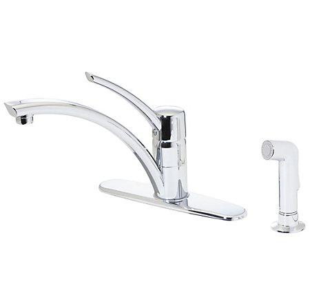 polished chrome parisa 1-handle kitchen faucet - gt34-4ncc - 1