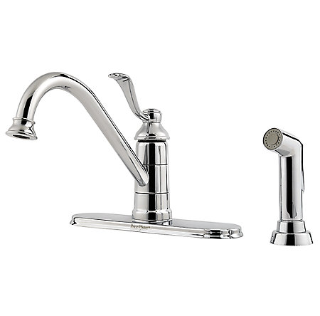 Polished Chrome Portland 1-Handle Kitchen Faucet - GT34-4PC0 - 1