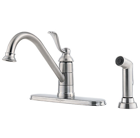 Stainless Steel Portland 1-Handle Kitchen Faucet - GT34-4PS0 - 1