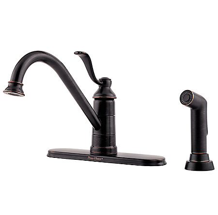 Tuscan Bronze Portland 1-Handle Kitchen Faucet - GT34-4PY0 - 1