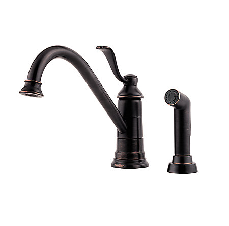 tuscan bronze portland 1-handle kitchen faucet - gt34-4py0 - 2
