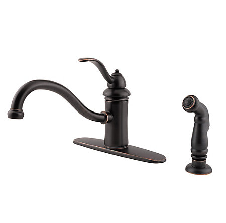 Tuscan Bronze Marielle 1-Handle Kitchen Faucet - GT34-4TYY - 1