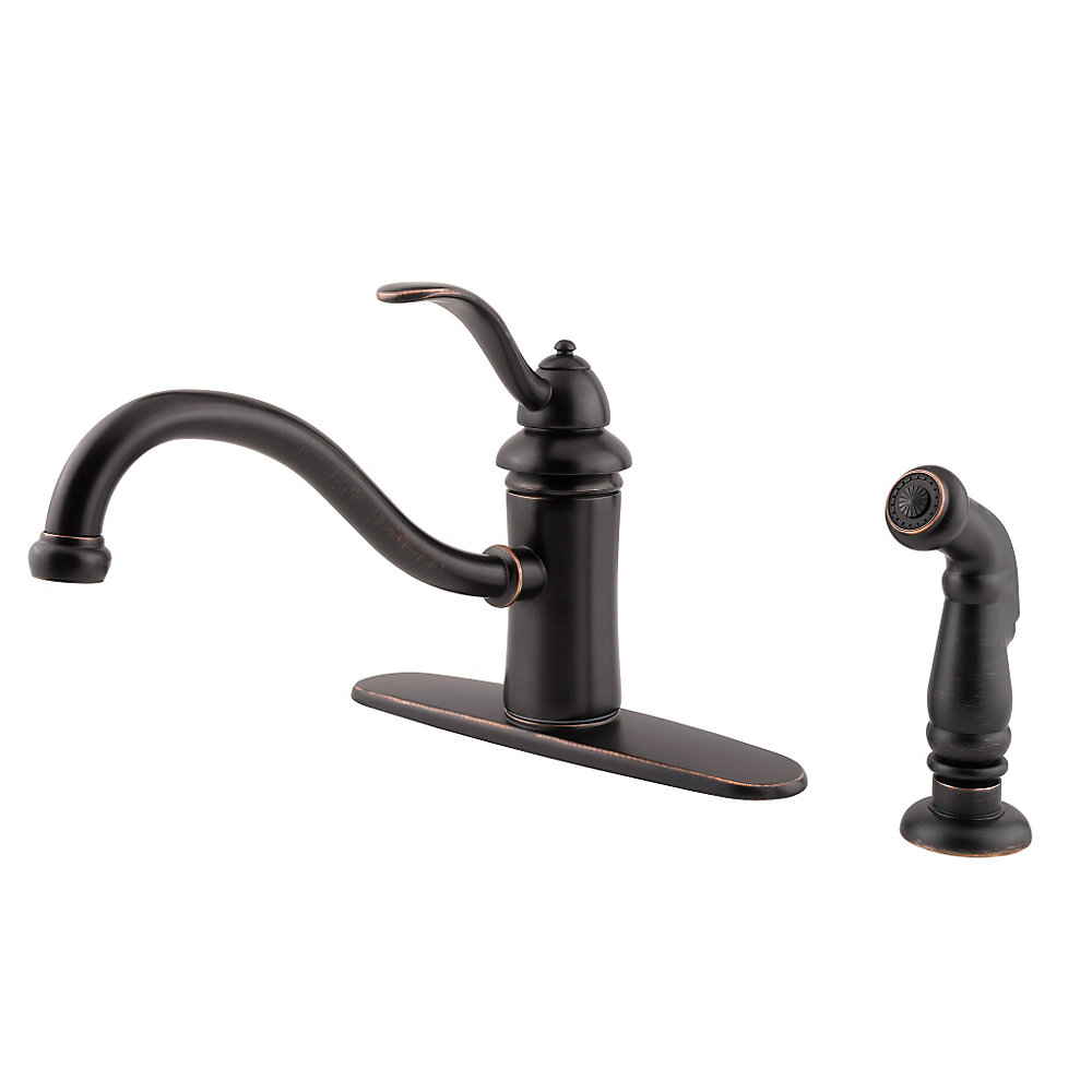 Pfister Kitchen Faucet Tuscan Bronze Marielle 1 Handle Kitchen Faucet Gt34 4tyy