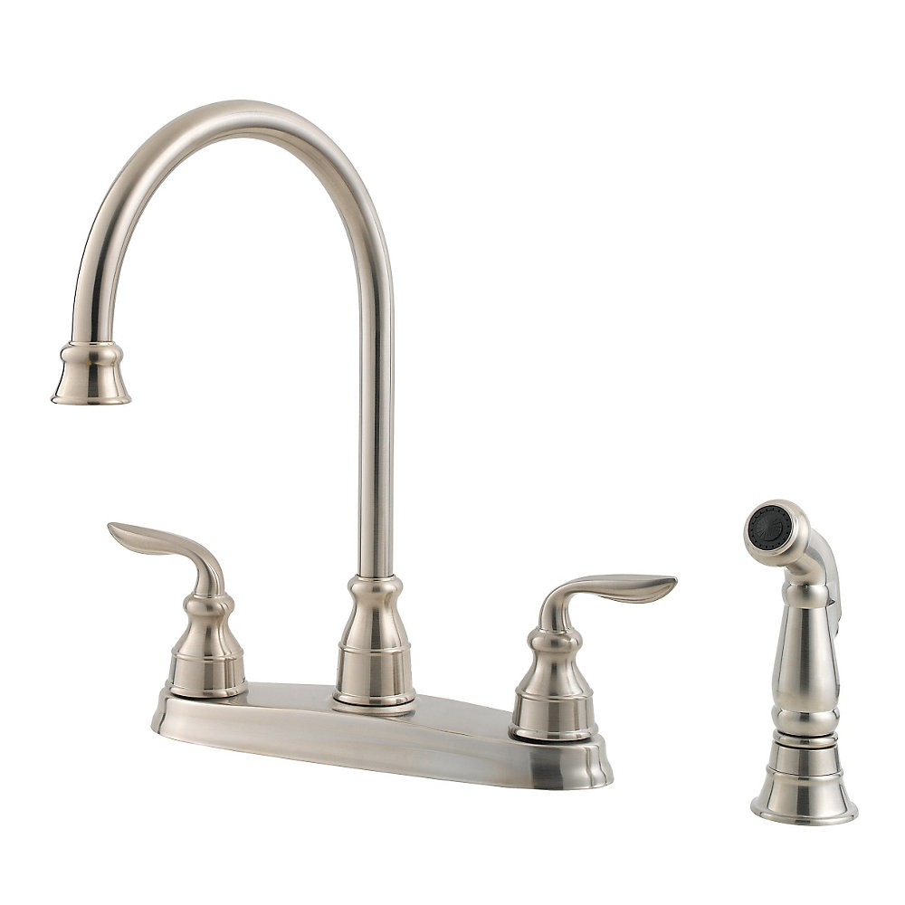 Stainless Steel Kitchen Faucets Stainless Steel Avalon 2 Handle Kitchen Faucet Gt36 4cbs