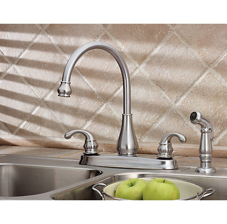 Stainless Steel Treviso 2-Handle Kitchen Faucet - GT36-4DSS - 3