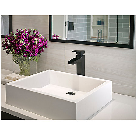 Black Kenzo Single Handle Vessel Faucet - GT40-DF0B - 2