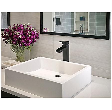 Black Kenzo Single Handle Trough Vessel Bath Faucet - LG40-DF0B - 2
