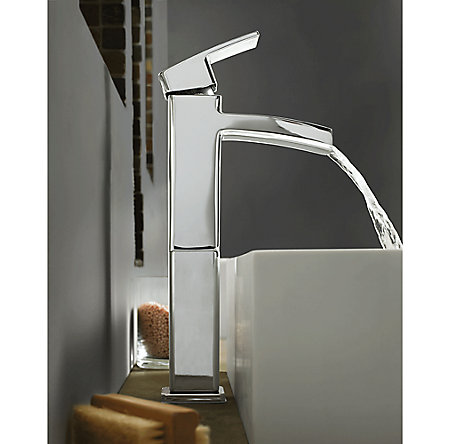 Polished Chrome Kenzo Single Handle Vessel Faucet - GT40-DF0C - 2