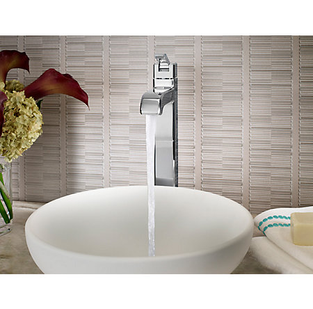 Polished Chrome Park Avenue Single Handle Vessel Faucet - LG40-FE0C - 2
