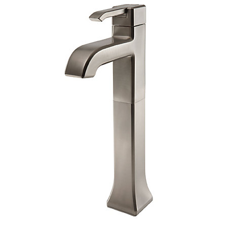 Brushed Nickel Park Avenue Single Handle Vessel Faucet - GT40-FE0K - 1