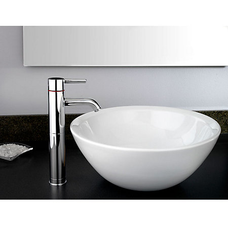 Polished Chrome Contempra Single Handle Vessel Faucet - LG40-NC00 - 2