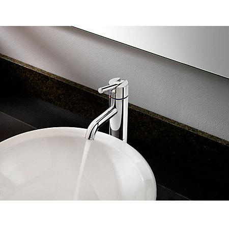 Polished Chrome Contempra Single Handle Vessel Faucet - LG40-NC00 - 3