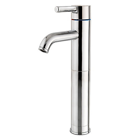 polished chrome contempra single handle vessel faucet
