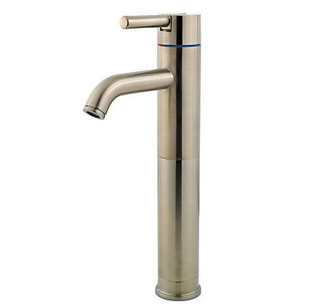 Brushed Nickel Contempra Single Handle Vessel Faucet - GT40-NK00 - 1