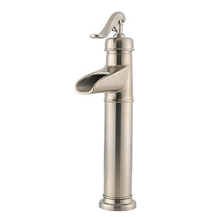 Brushed Nickel Ashfield Single Handle Vessel Faucet - GT40-YP0K - 1