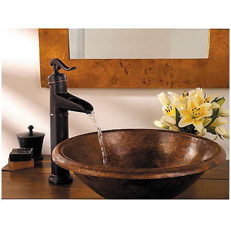 tuscan bronze ashfield single handle vessel faucet - gt40-yp0y - 3