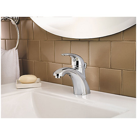 Polished Chrome Parisa Single Control, Centerset Bath Faucet - LG42-AMCC - 3