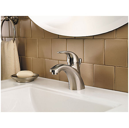 Brushed Nickel Parisa Single Control, Centerset Bath Faucet - LG42-AMCK - 3