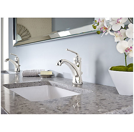 Polished Nickel Arterra Single Control Lavatory Faucet - LG42-DE0D - 2