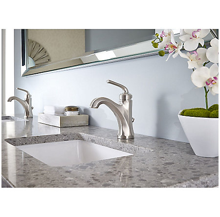 Brushed Nickel Arterra Single Control Lavatory Faucet - LG42-DE0K - 2
