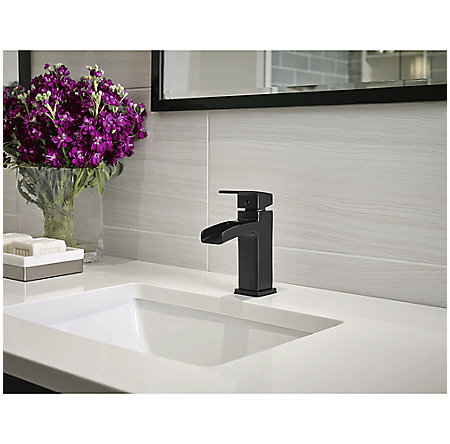 Black Kenzo Single Control, Trough Bath Faucet - LG42-DF0B - 3