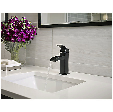 Black Kenzo Single Control, Trough Bath Faucet - LG42-DF0B - 4