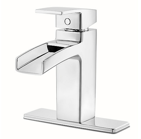 Polished Chrome Kenzo Single Control, Trough Bath Faucet - LG42-DF0C - 2