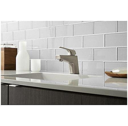 Brushed Nickel Arkitek Single Control Lavatory Faucet - LG42-LPMK - 2