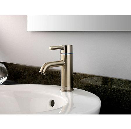 Brushed Nickel Contempra Single Control, Centerset Bath Faucet - GT42-NK00 - 2