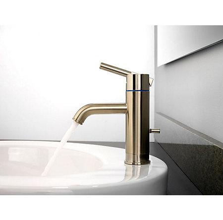 Brushed Nickel Contempra Single Control, Centerset Bath Faucet - GT42-NK00 - 3