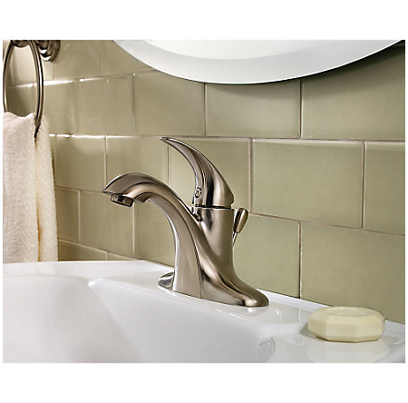 Brushed Nickel Serrano Single Control Bath Faucet - LG42-SR0K - 2
