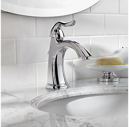 Polished Chrome Santiago Single Control, Centerset Bath Faucet - GT42-ST0C - 3