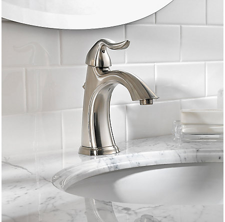 Brushed Nickel Santiago Single Control, Centerset Bath Faucet - GT42-ST0K - 3