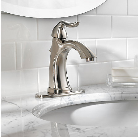 Brushed Nickel Santiago Single Control, Centerset Bath Faucet - GT42-ST0K - 4