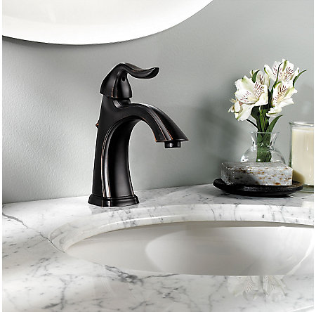 Tuscan Bronze Santiago Single Control, Centerset Bath Faucet - GT42-ST0Y - 3