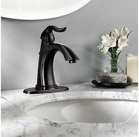 Tuscan Bronze Santiago Single Control, Centerset Bath Faucet - GT42-ST0Y - 4