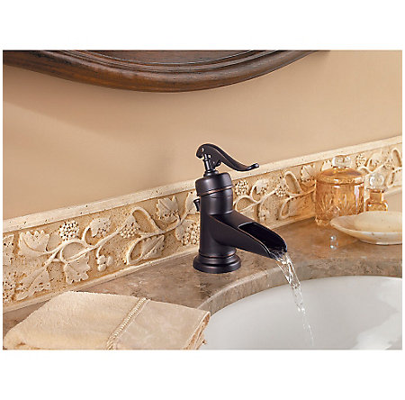 Tuscan Bronze Ashfield Single Control, Centerset Bath Faucet - GT42-YP0Y - 5