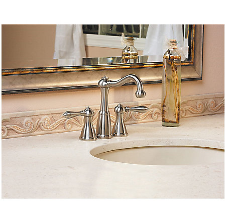 Brushed Nickel Marielle Mini-Widespread Bath Faucet - LG46-M0BK - 2