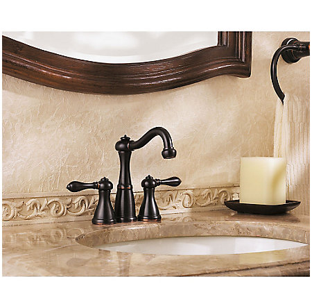 Tuscan Bronze Marielle Mini-Widespread Bath Faucet - GT46-M0BY - 2